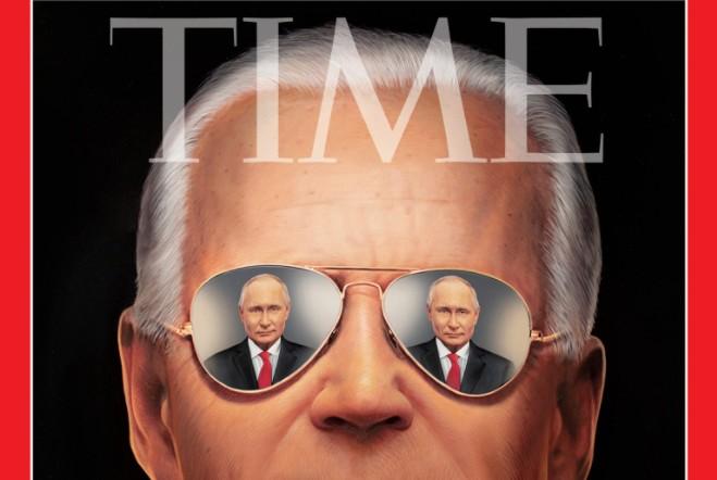 Το εξώφυλλο του TIME για το τετ α τετ Μπάιντεν – Πούτιν