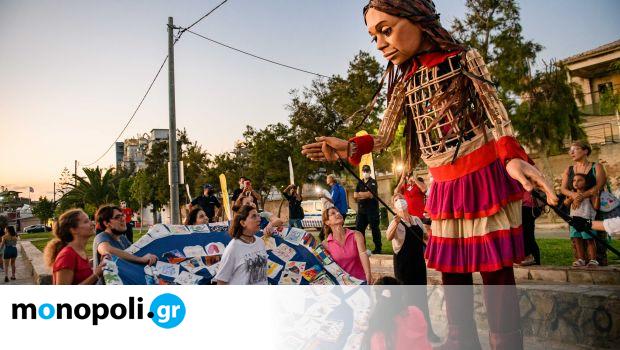 Ένα βήμα μπροστά: Έκθεση εμπνευσμένη από το ταξίδι της Μικρής Αμάλ στην Ελευσίνα - Monopoli.gr