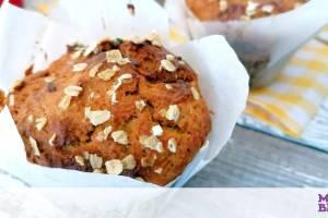 Κολατσιό για το σχολείο: Muffins καρότου με βρόμη κι ελαιόλαδο