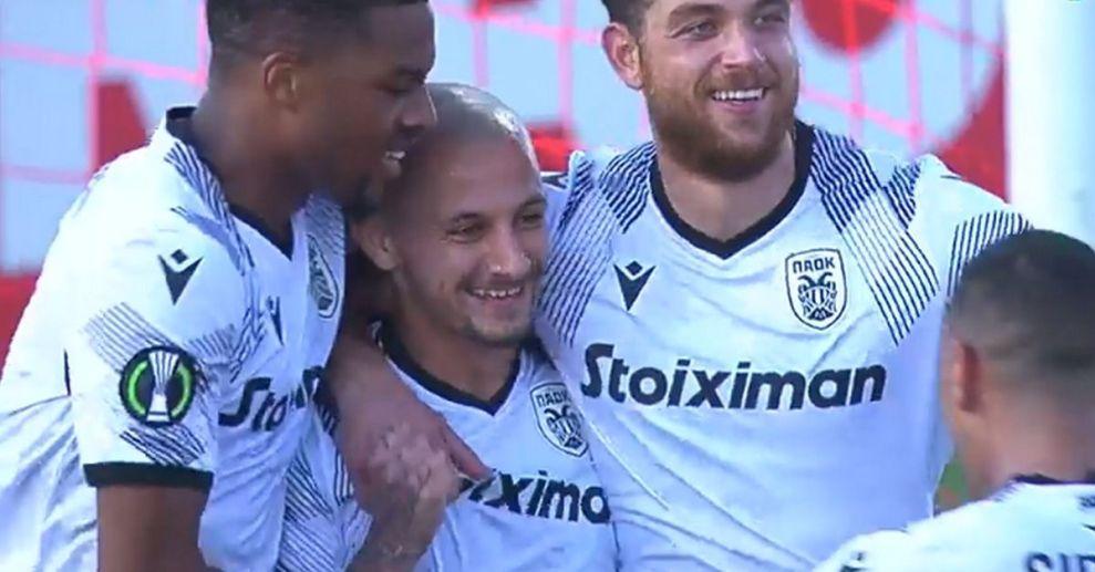 Λίνκολν - ΠΑΟΚ: Ο Μίτριτσα έκανε το 0-2 με το πρώτο του γκολ με τη φανέλα του Δικεφάλου