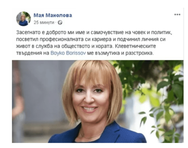 Манолова съди Борисов