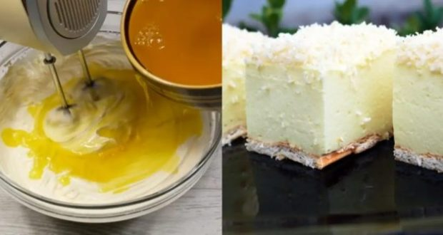 Лимонова торта без печене – красив и вкусен десерт