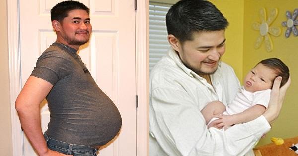 Той беше първият Бременен мъж роди три деца