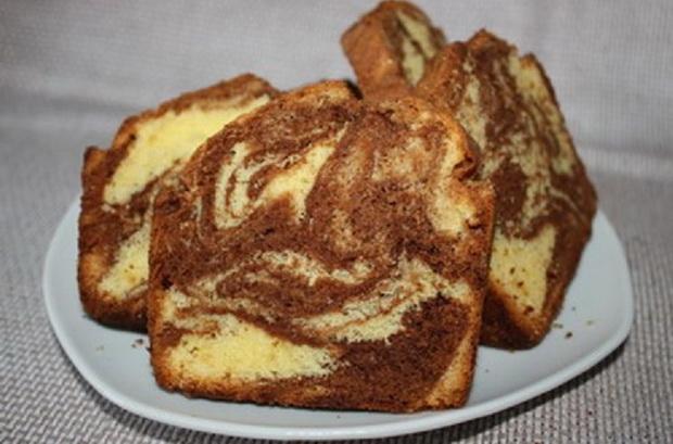 Мраморен кекс за следобедното кафенце у дома