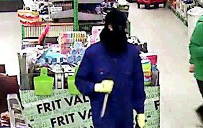 Denne mand røvede Kiwi Supermarkedet i Jels. Foto: politiet.