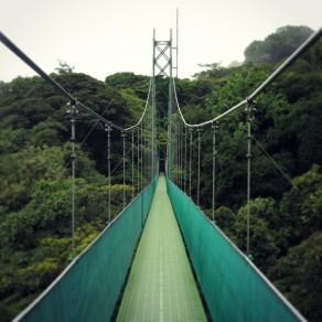 Hanging bridge over the Santa Elena Cloud Forest