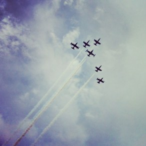 Flyover at Dolphins game