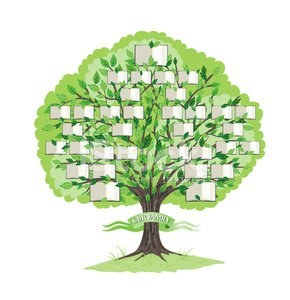 Family Tree Template stock vectors   365PSD com Family Tree Template