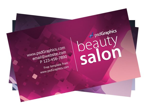 Free Beauty salon business card template PSD files  vectors     Free Beauty salon business card template PSD files  vectors   graphics    365PSD com