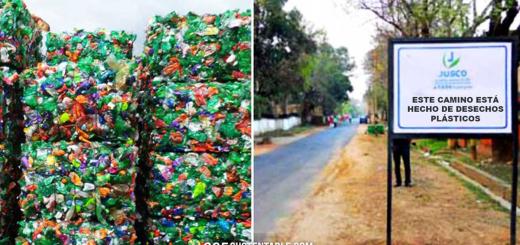 Están reciclando plástico para pavimentar calles