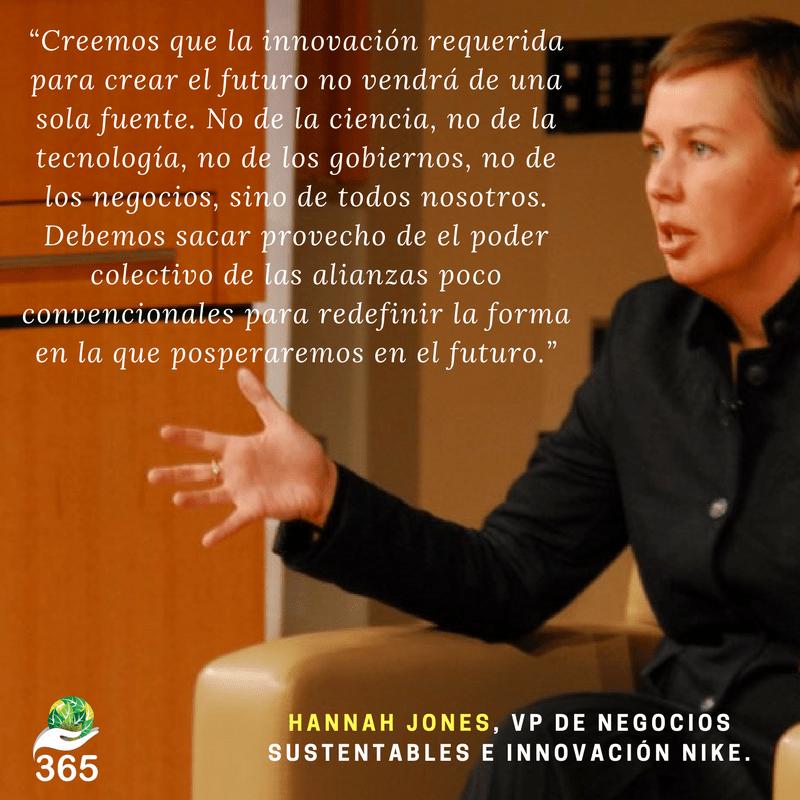 8. Hannah Jones, VP de negocios sustentables e innovación Nike.