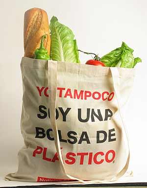 Utiliza bolsas de tela para las compras en el supermercado.