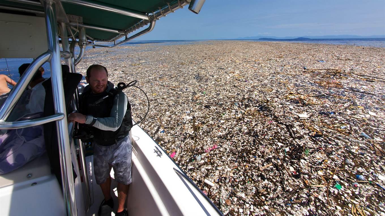 Un mar de basura en el Caribe. Foto: Caroline Power