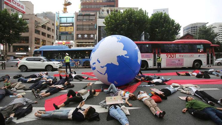 Marcha global por el clima, manifestación en Seul