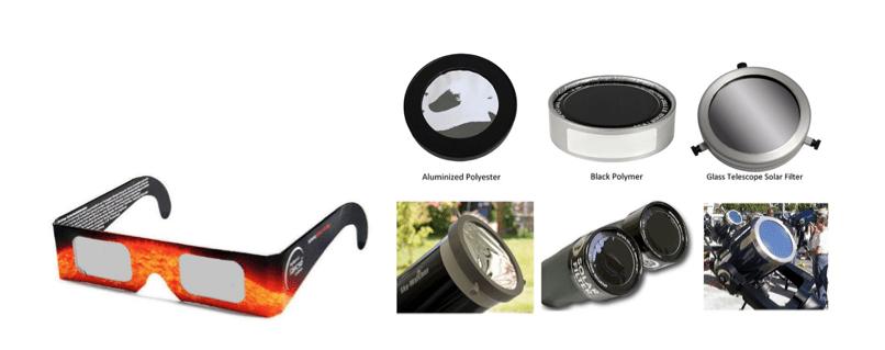 Observación segura en eclipses.