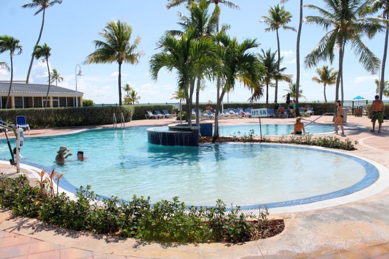Pool at the Islander Resort in Islamorada