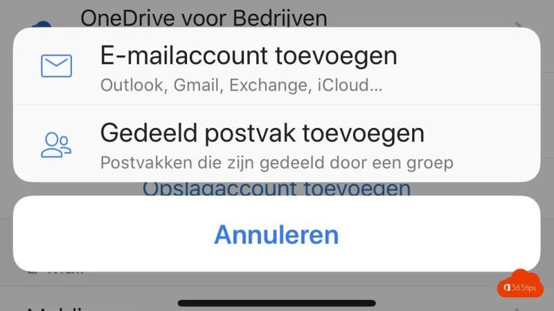Voeg je gedeelde mailbox toe aan je Outlook iOS app
