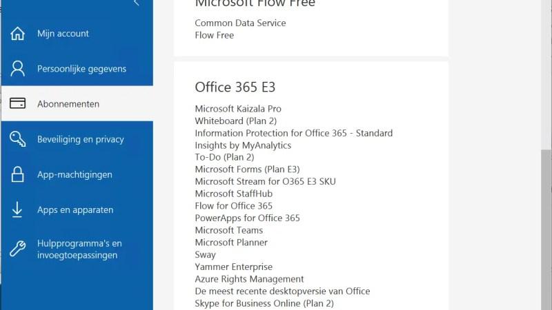 Welke office 365 licentie heb ik?
