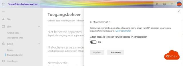 Netwerk locatie governance SharePoint