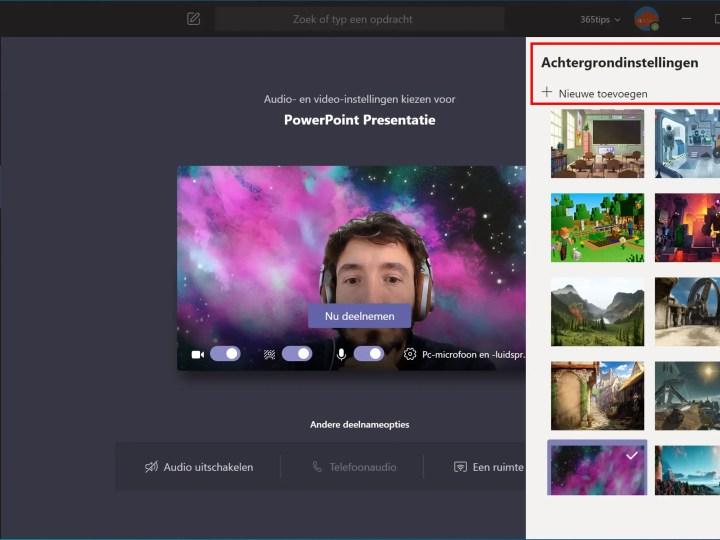 Microsoft Teams achtergrond aanpassen met je eigen afbeelding