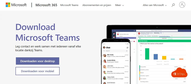 Microsoft Teams downloaden en installeren