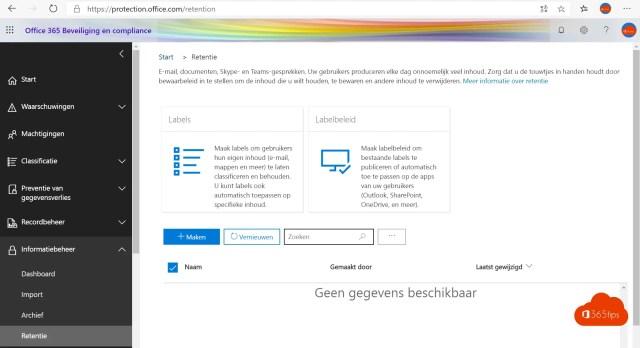 Microsoft Teams governance Retention Policy