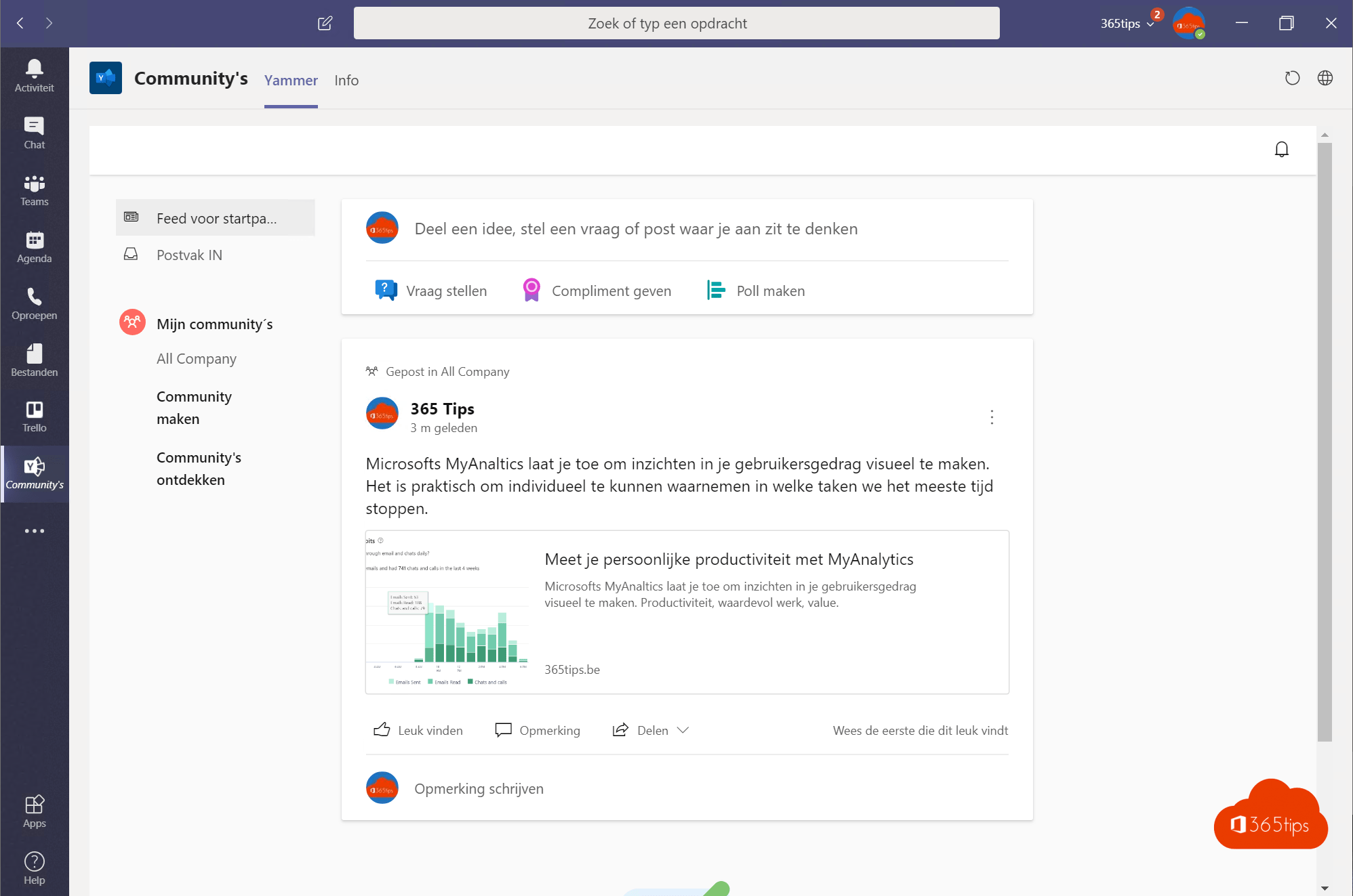 Yammer in Microsoft Teams inpluggen in 3 stappen!