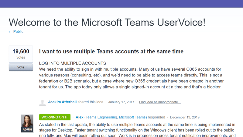 Meerdere teams accounts gebruiken in één applicatie