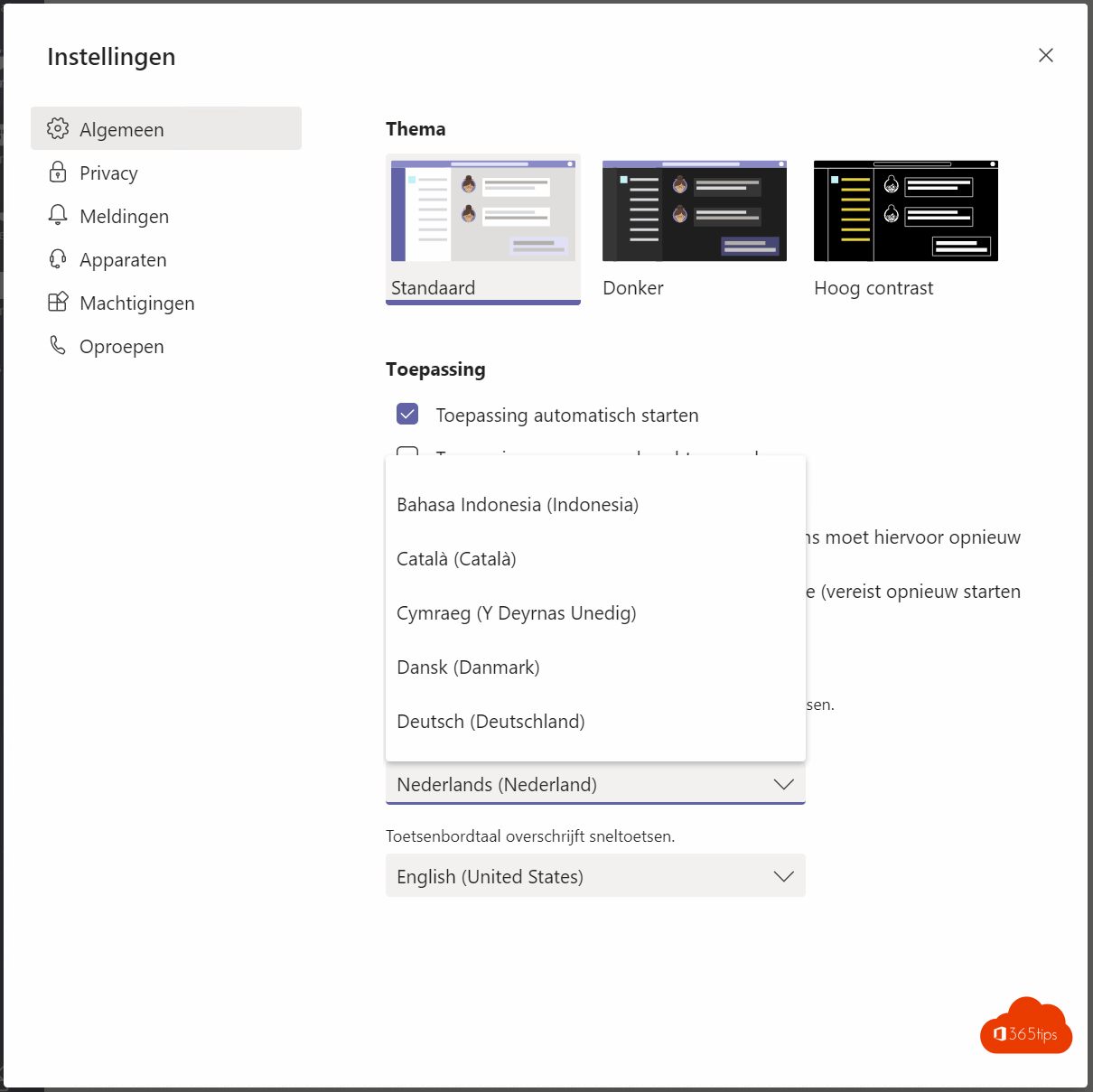 Hoe kan je de Standaard taal voor Microsoft Teams aanpassen?