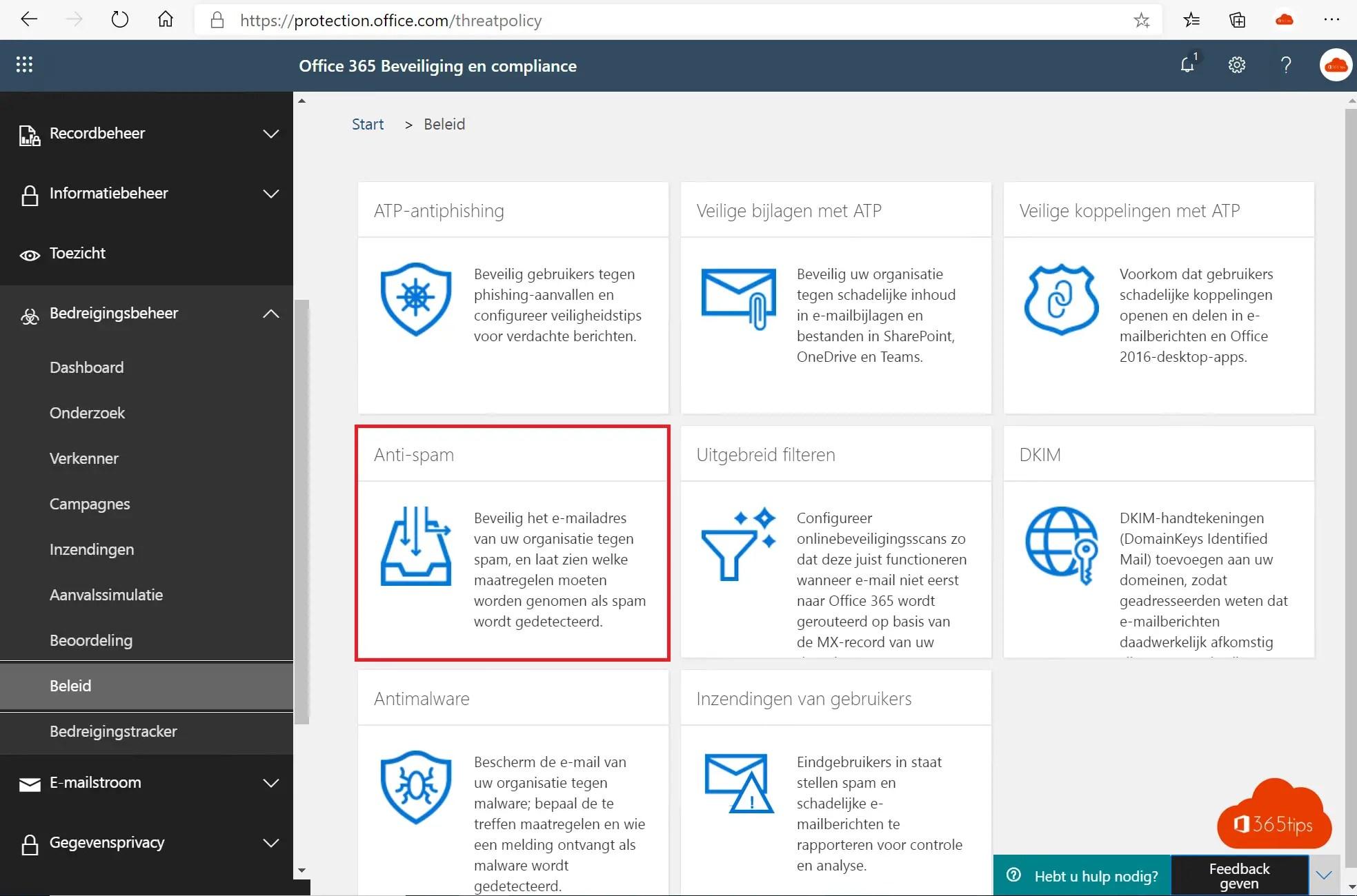 Blokkeer alle uitgaande e-mail met beleidsregels