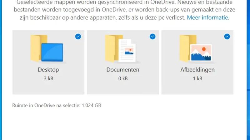 Automatisch back-up maken van je desktop, documenten an afbeeldingen met OneDrive