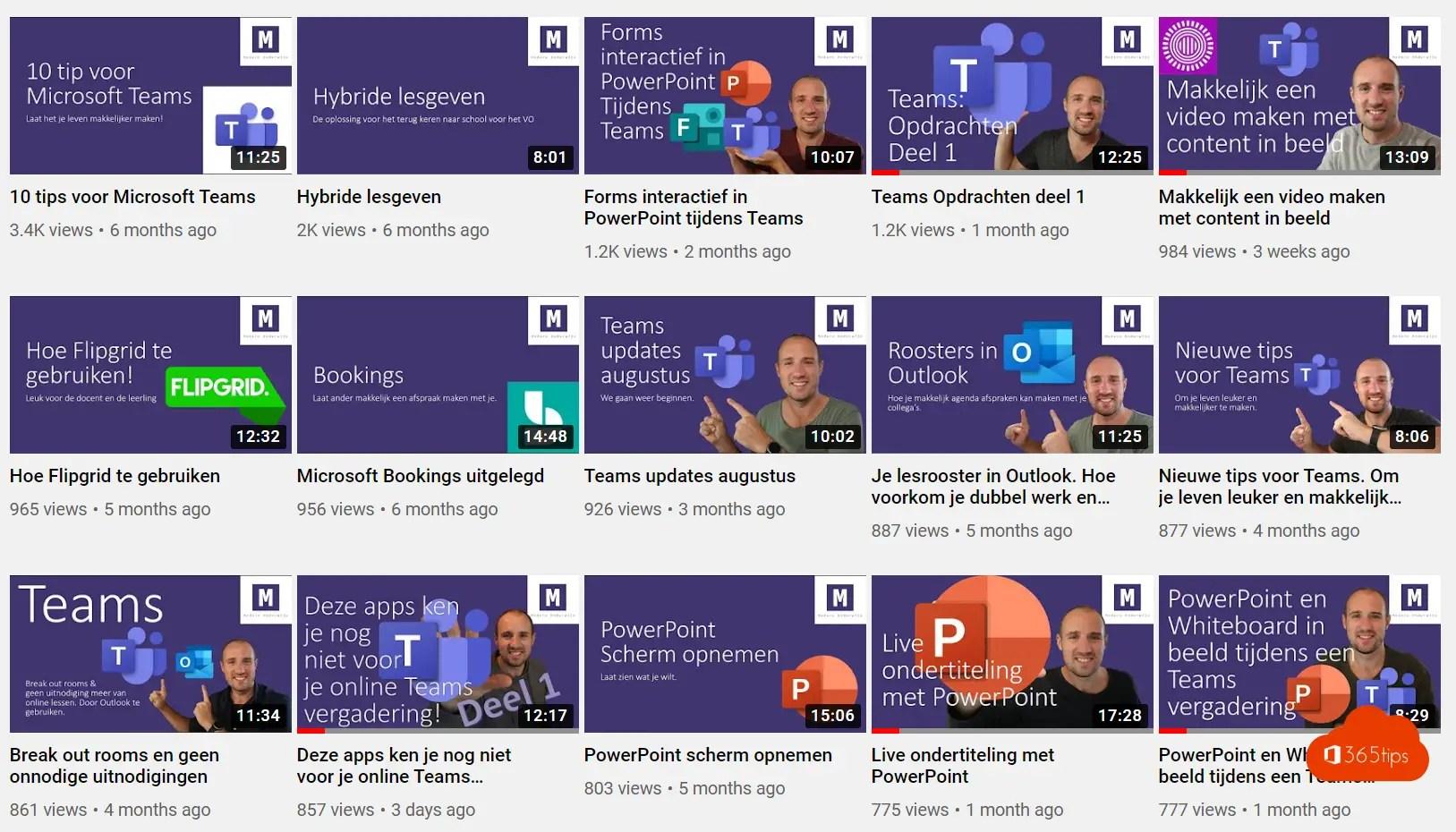 Modern Onderwijs op YouTube – Lesgeven via Microsoft Teams