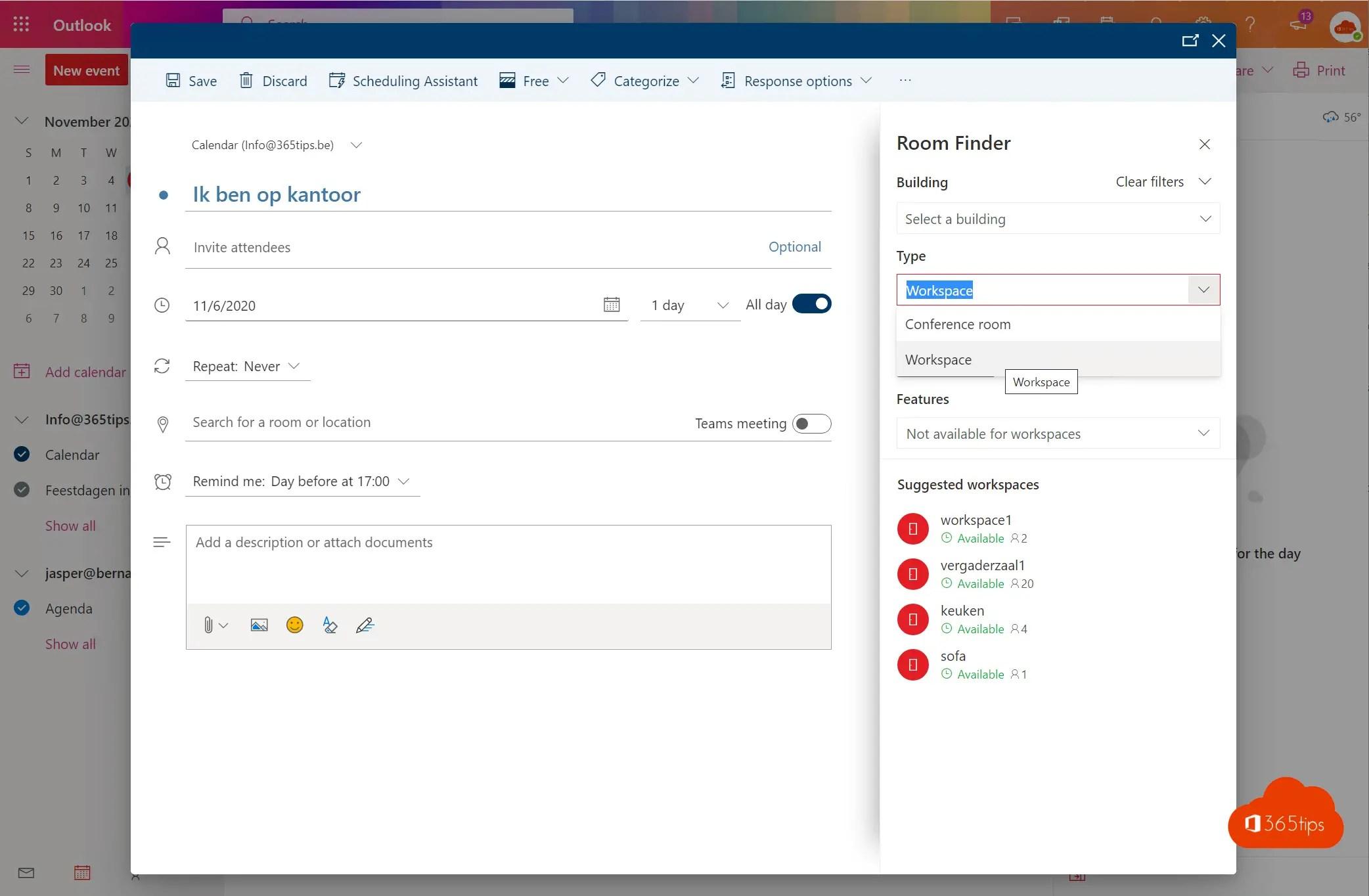 Hoe workspaces activeren in Exchange Online?
