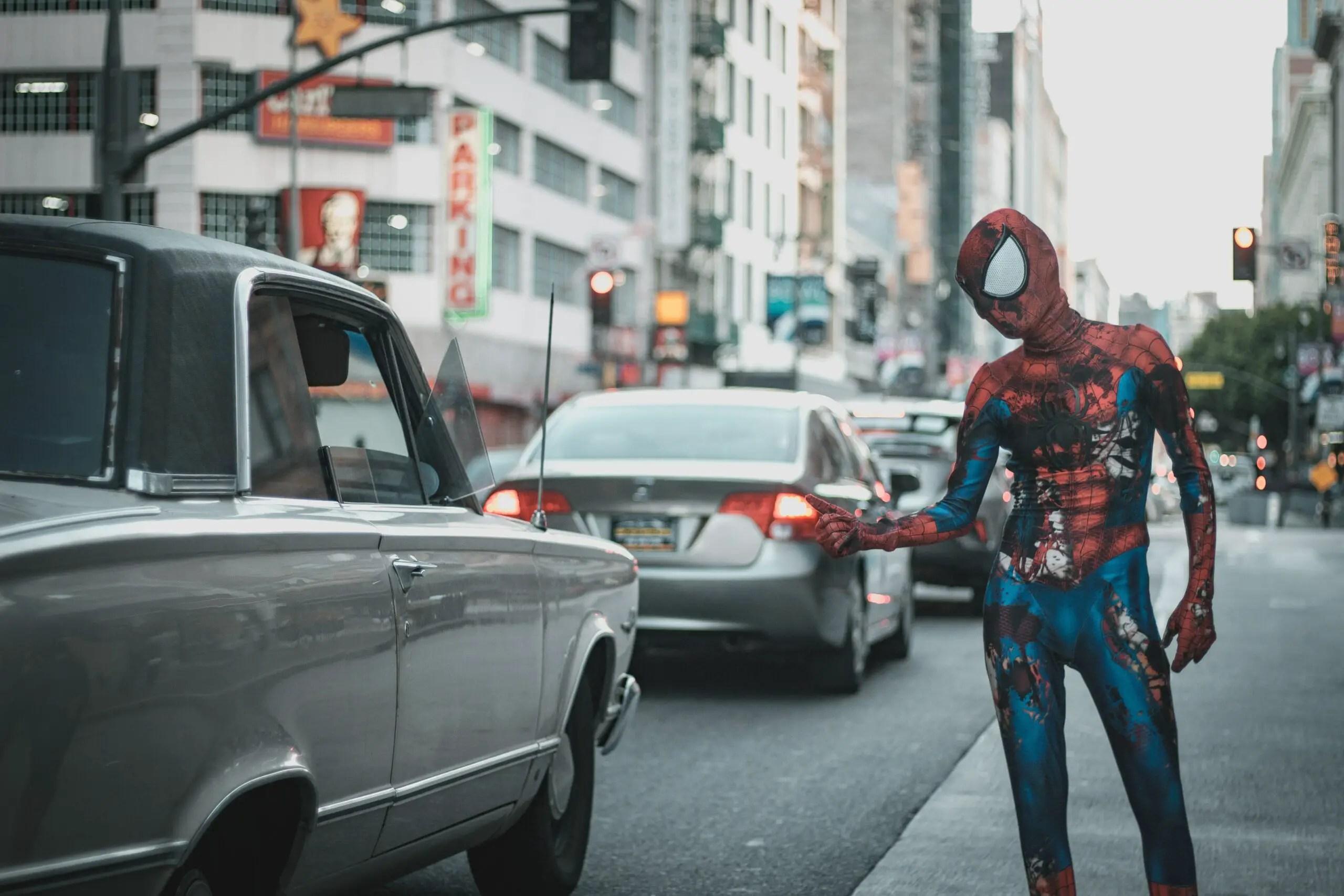 Spider man achtergrond