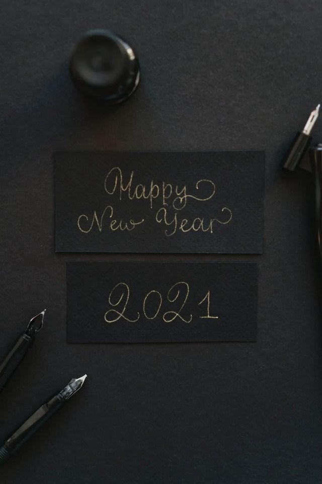 inkt eenvoudig simpel kerst nieuwjaar