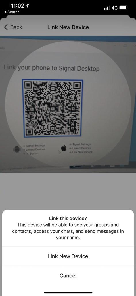 Scan QR Code Signal