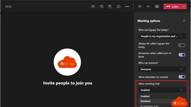 Zo neem je meer controle over je teams-vergaderingen – chat uitschakelen