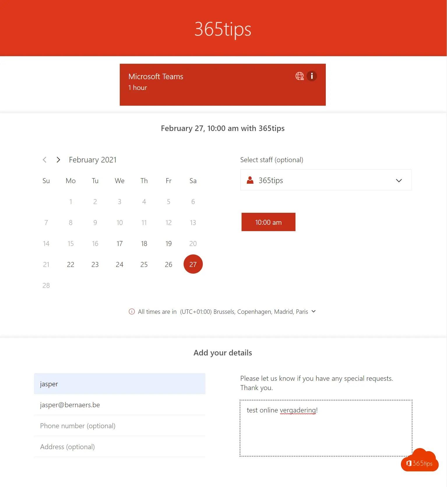 Microsoft Bookings instellen om automatisch boekingen te maken in je agenda