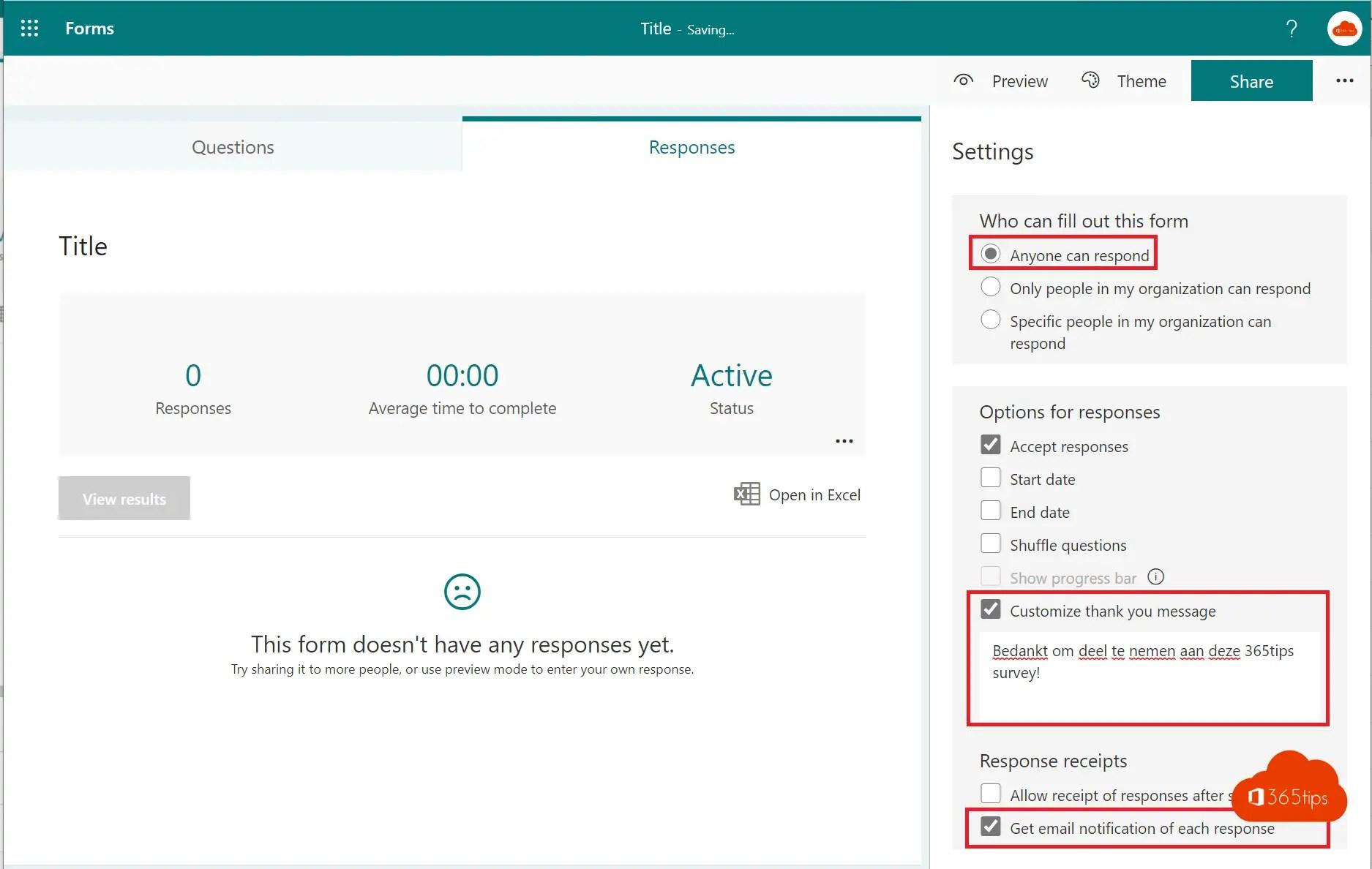 Handleiding: Een formulier maken en delen met Microsoft Forms?