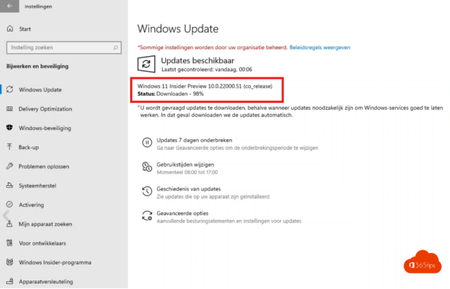 Windows 11 insider preview 10.0.22000.51