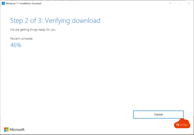 Step 2 of 3: Verifying download