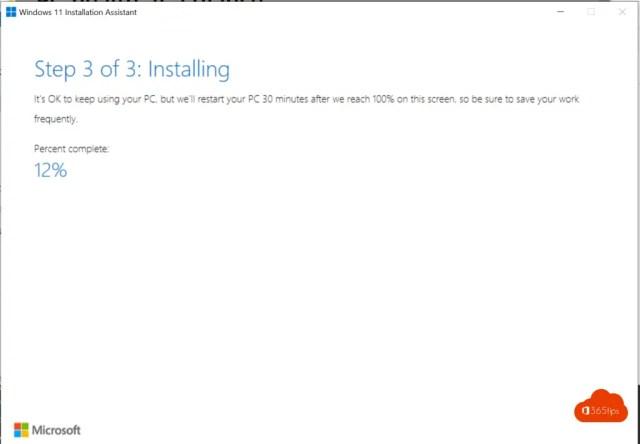 step 3 of 3 installing Windows 11.