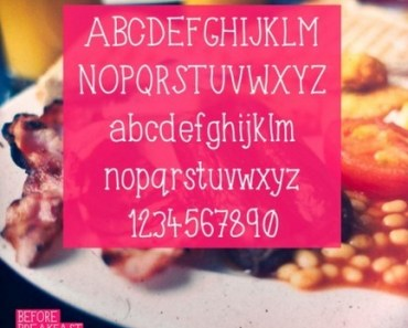Before Breakfast - Free Hand Drawn Typeface