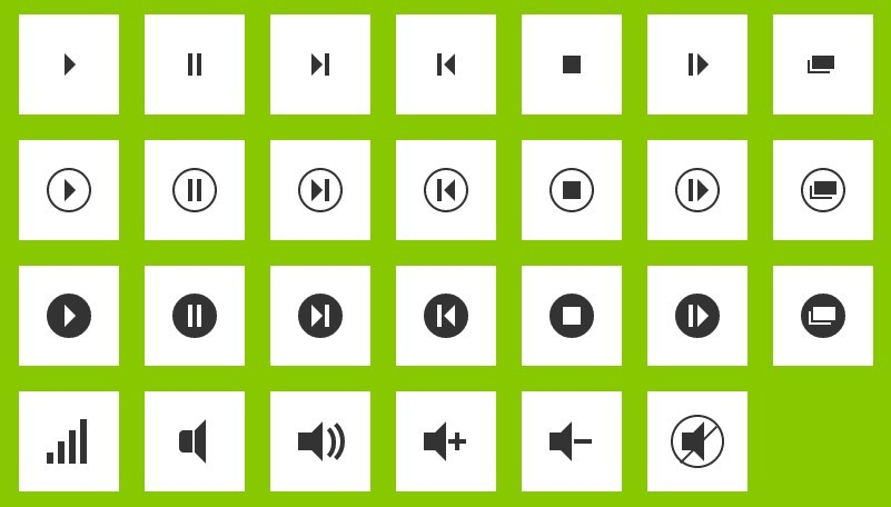 200+ CSS3 Icons