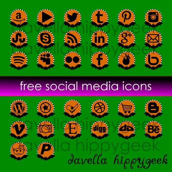 32 Free Halloween Bat Social Media Icons