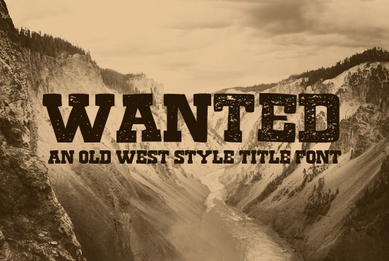 A Free Old West Style Title Font