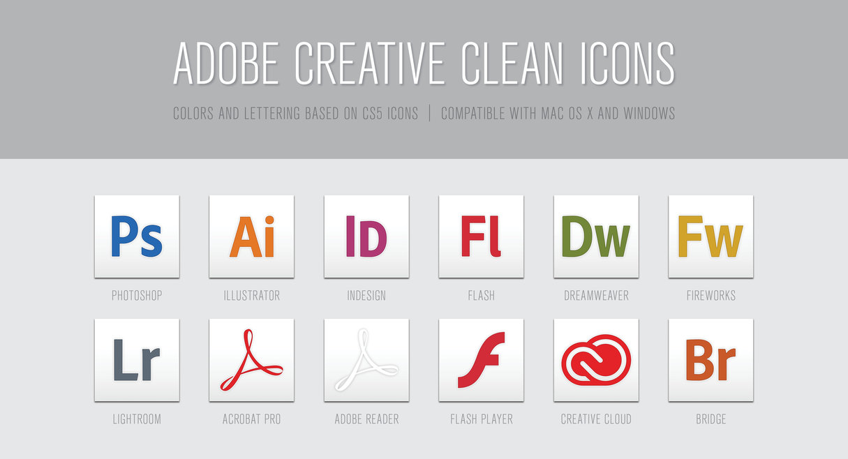 12 Adobe Product Amp App Icon Sets 365 Web Resources