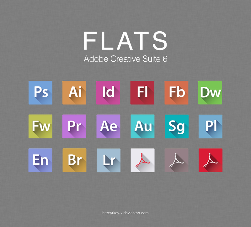 FLATS-Adobe-CS6-Icons