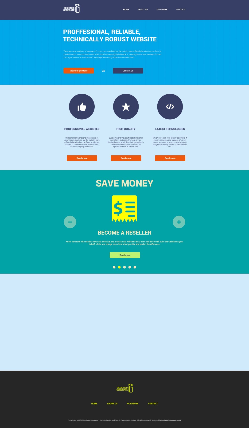 Flat website freebie