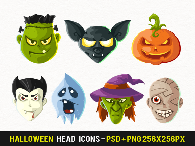 Free Halloween Head Icons